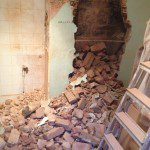 Removing existing brickwork