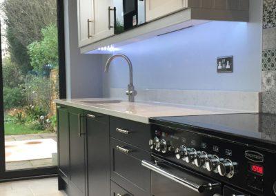 Hot tap filter tap to new kitchen Oakhill Road Ashtead
